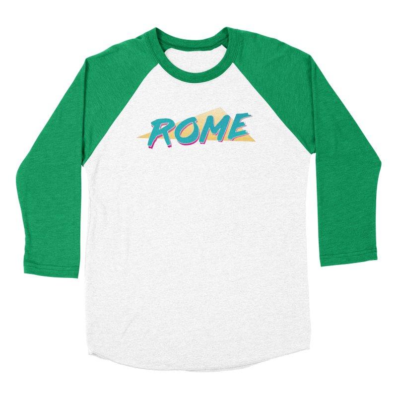 Rome Wasn't 80'd in a Day Men's Baseball Triblend Longsleeve T-Shirt by Daniel Montgomery's Artist Shop