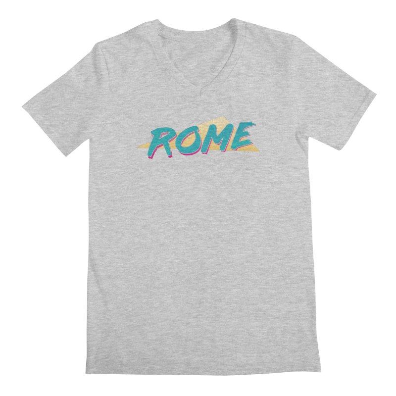 Rome Wasn't 80'd in a Day Men's Regular V-Neck by Daniel Montgomery's Artist Shop