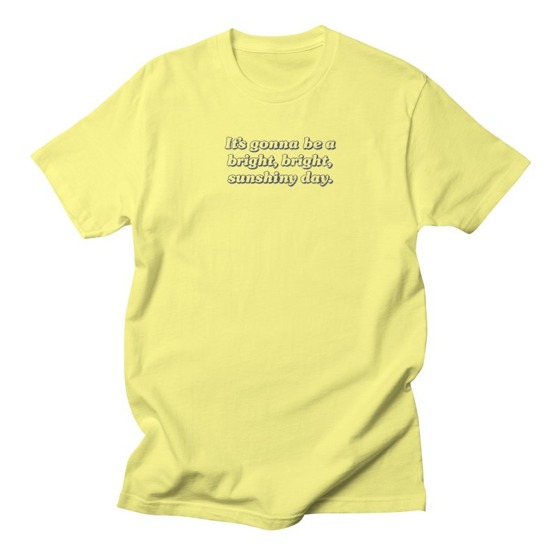 Bright Sunshiny Day on Bright Men's Regular T-Shirt by Daniel Montgomery's Artist Shop