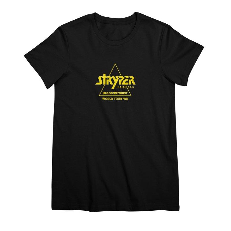 Stryper World Tour '88 Women's Premium T-Shirt by Daniel Montgomery's Artist Shop