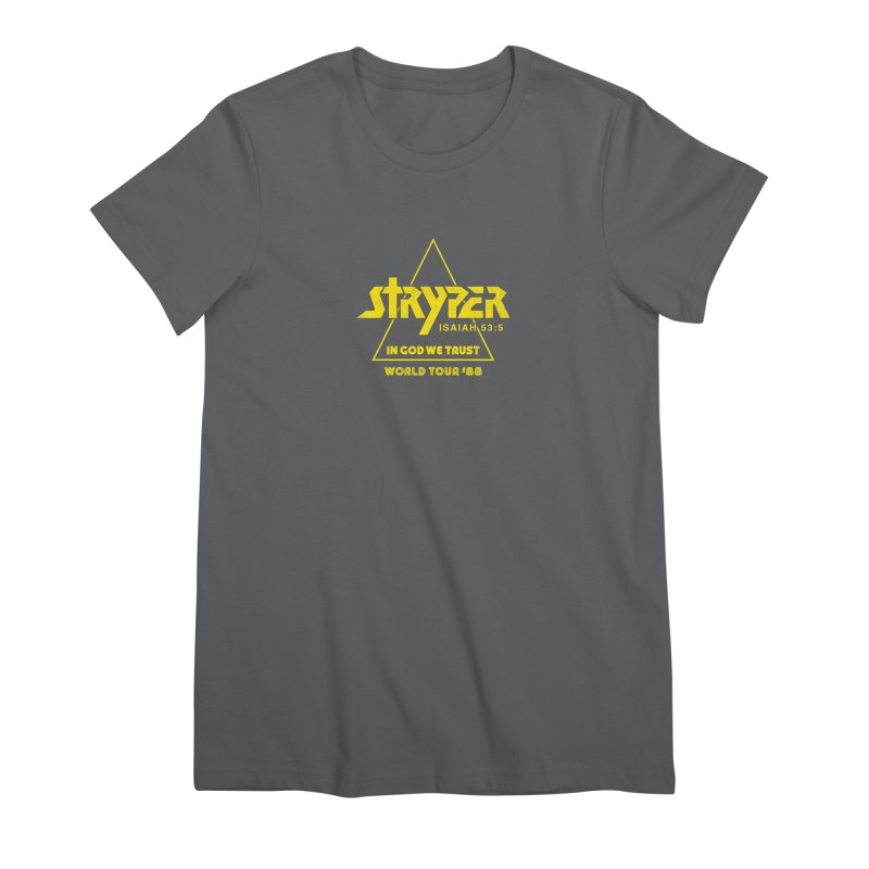 Stryper World Tour '88 Women's Premium T-Shirt by Daniel Montgomery's Artist Shop