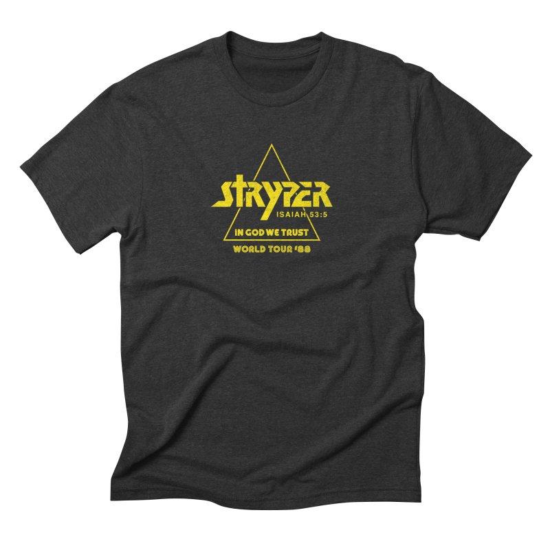 Stryper World Tour '88 Men's Triblend T-Shirt by Daniel Montgomery's Artist Shop