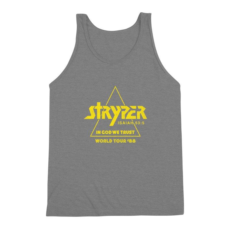 Stryper World Tour '88 Men's Triblend Tank by Daniel Montgomery's Artist Shop