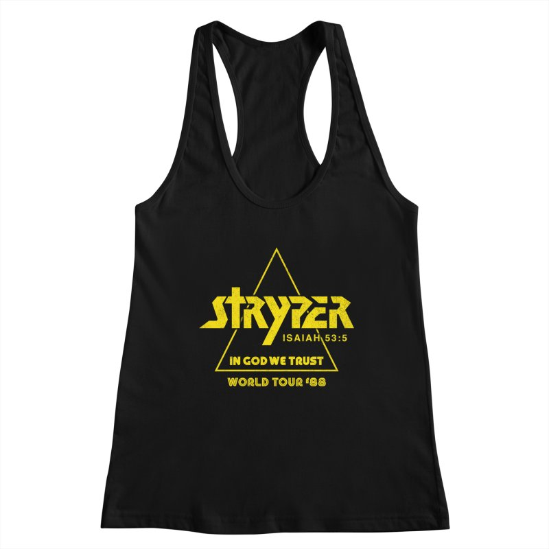 Stryper World Tour '88 Women's Racerback Tank by Daniel Montgomery's Artist Shop