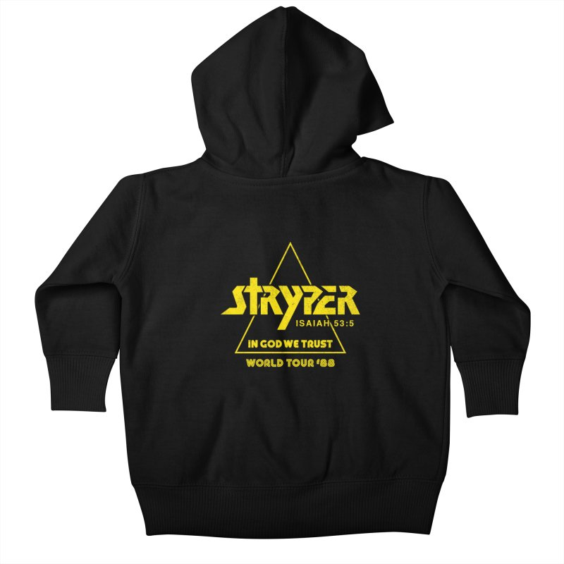 Stryper World Tour '88 Kids Baby Zip-Up Hoody by Daniel Montgomery's Artist Shop