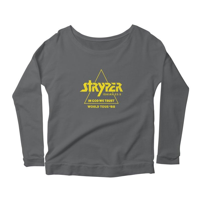 Stryper World Tour '88 Women's Scoop Neck Longsleeve T-Shirt by Daniel Montgomery's Artist Shop