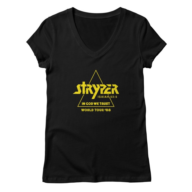 Stryper World Tour '88 Women's Regular V-Neck by Daniel Montgomery's Artist Shop