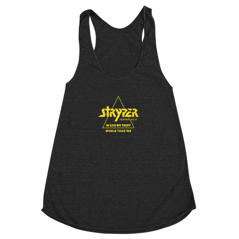 Stryper World Tour '88 Women's Racerback Triblend Tank by Daniel Montgomery's Artist Shop