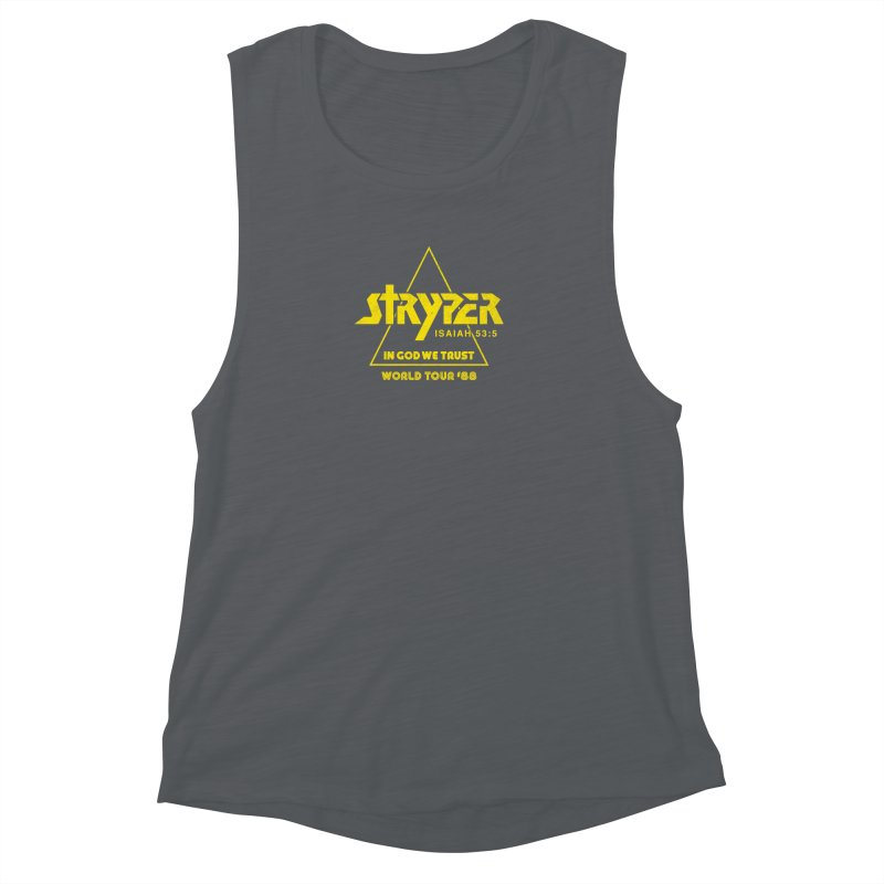 Stryper World Tour '88 Women's Muscle Tank by Daniel Montgomery's Artist Shop