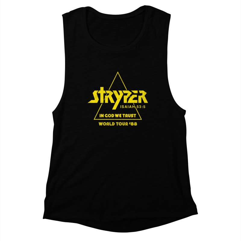 Stryper World Tour '88 Women's Muscle Tank by Daniel Montgomery's Artist Shop