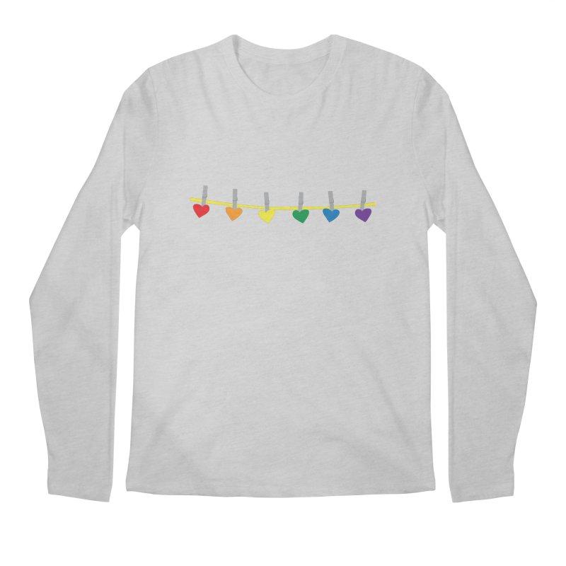 PrideLine Men's Longsleeve T-Shirt by danielmorgan's Artist Shop