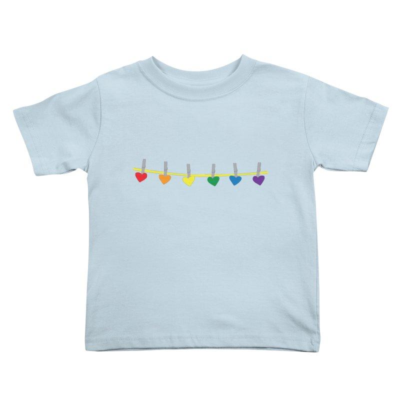 PrideLine Kids Toddler T-Shirt by danielmorgan's Artist Shop