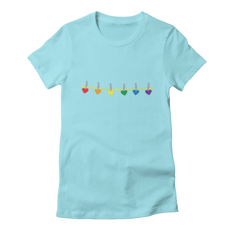 PrideLine Women's Fitted T-Shirt by danielmorgan's Artist Shop