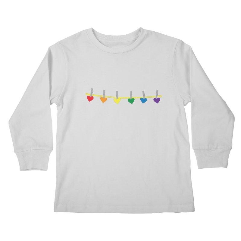 PrideLine Kids Longsleeve T-Shirt by danielmorgan's Artist Shop