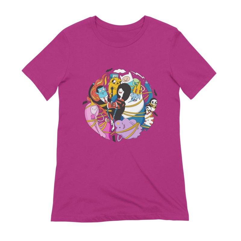 Adventure Friends Women's Extra Soft T-Shirt by Daniel Stevens's Artist Shop