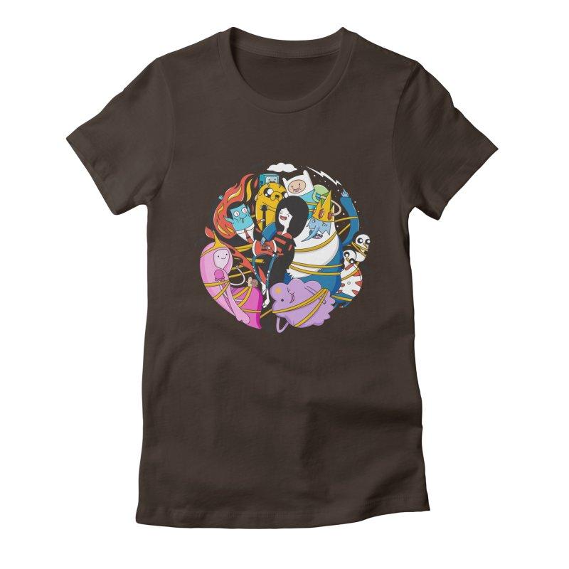 Adventure Friends Women's Fitted T-Shirt by Daniel Stevens's Artist Shop