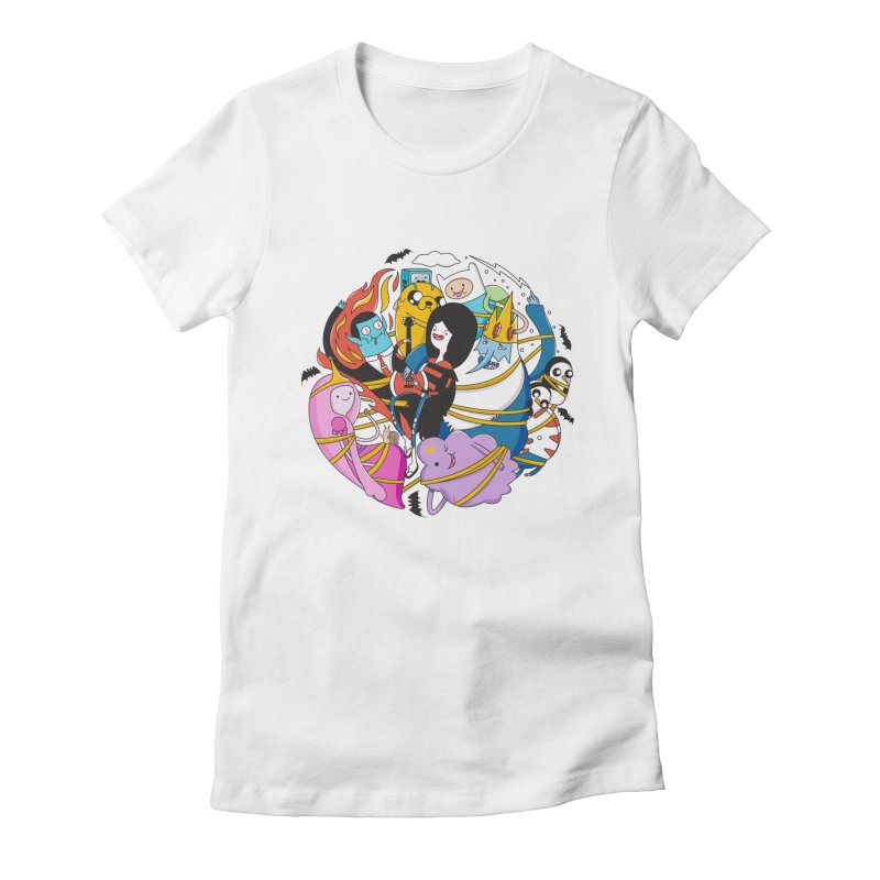 Adventure Friends Women's Fitted T-Shirt by Daniel Stevens's Artist Shop