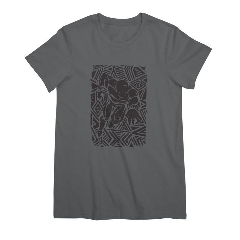 Tribal Panther Women's Premium T-Shirt by Daniel Stevens's Artist Shop