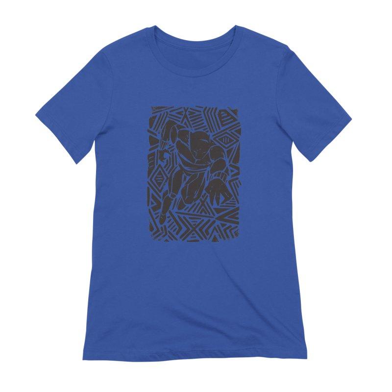 Tribal Panther Women's Extra Soft T-Shirt by Daniel Stevens's Artist Shop