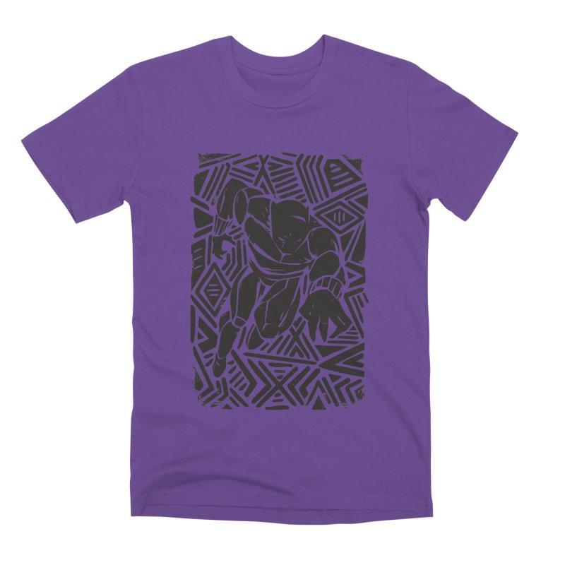 Tribal Panther Men's Premium T-Shirt by Daniel Stevens's Artist Shop