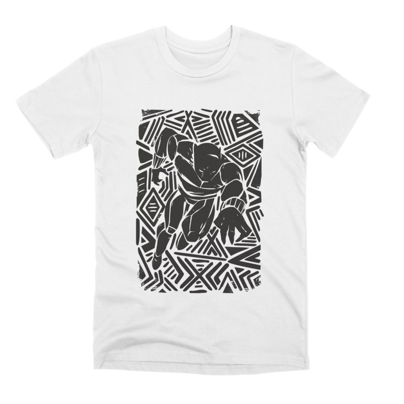 Tribal Panther Men's Premium T-Shirt by Daniel Stevens's Artist Shop