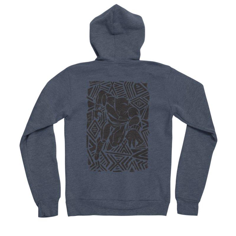 Tribal Panther Men's Sponge Fleece Zip-Up Hoody by Daniel Stevens's Artist Shop
