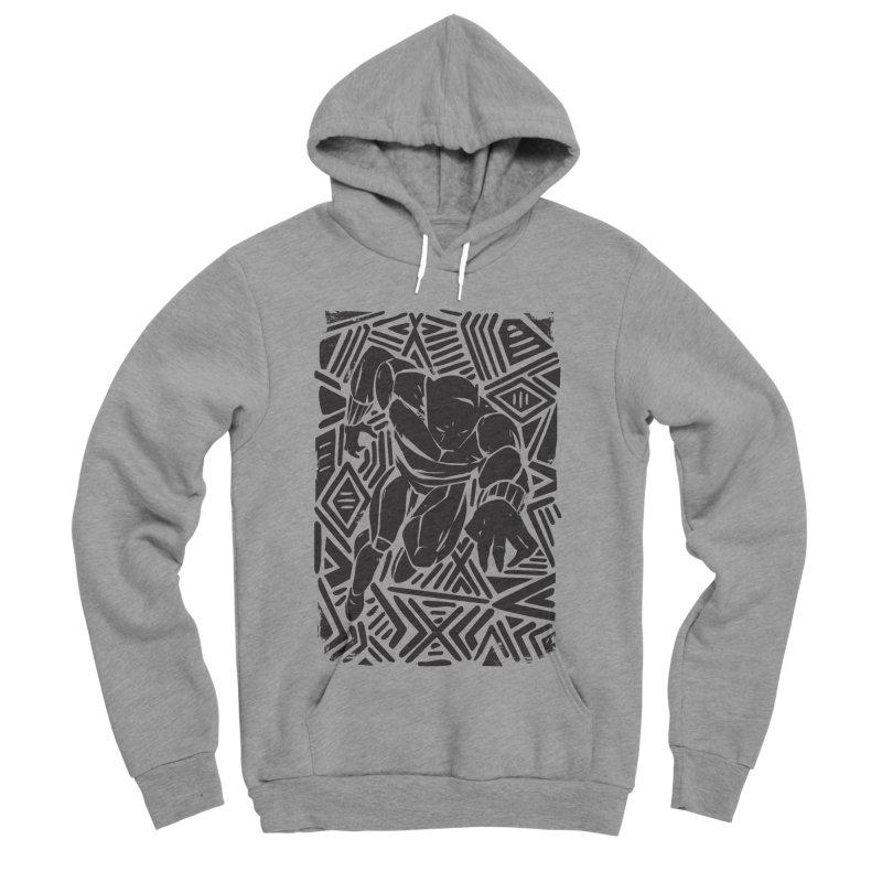Tribal Panther Men's Sponge Fleece Pullover Hoody by Daniel Stevens's Artist Shop