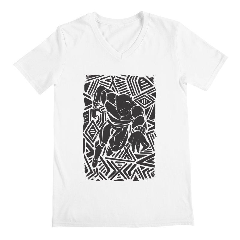 Tribal Panther Men's V-Neck by Daniel Stevens's Artist Shop