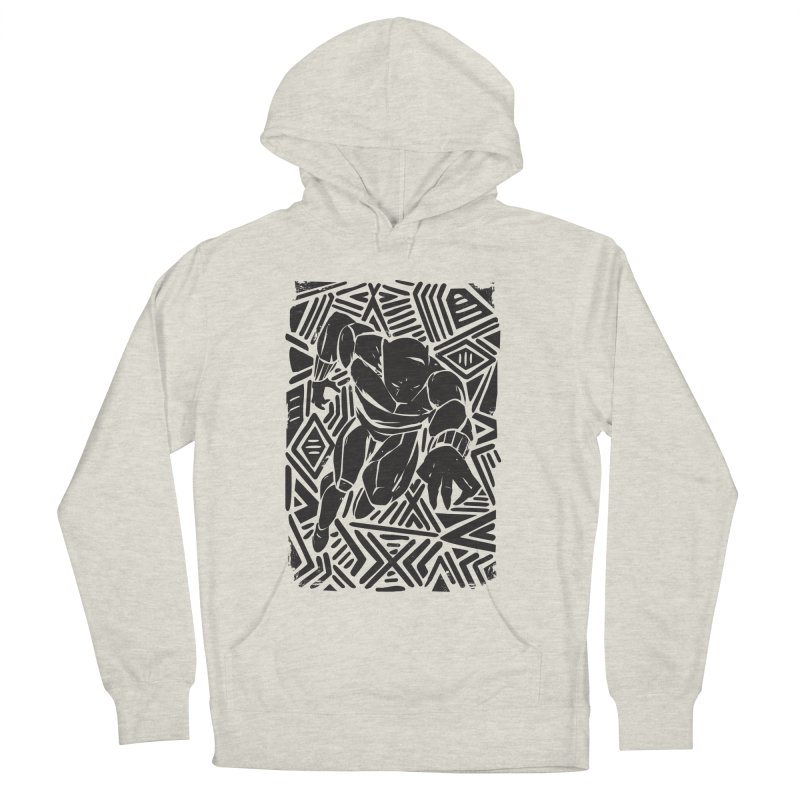 Tribal Panther Men's French Terry Pullover Hoody by Daniel Stevens's Artist Shop
