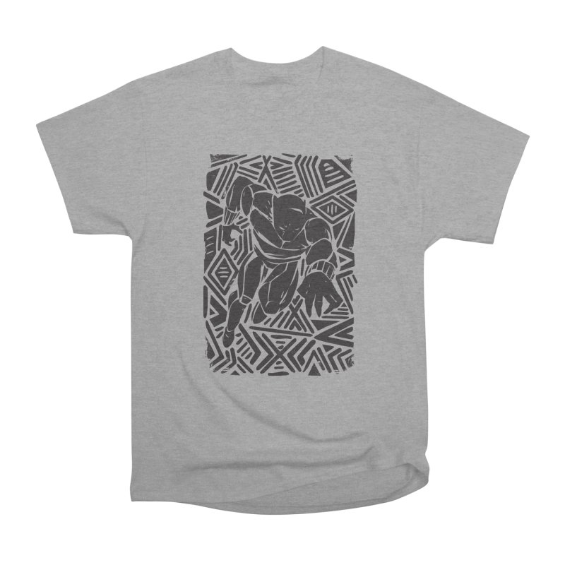 Tribal Panther Women's Heavyweight Unisex T-Shirt by Daniel Stevens's Artist Shop