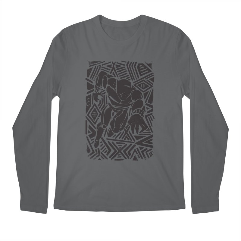 Tribal Panther Men's Regular Longsleeve T-Shirt by Daniel Stevens's Artist Shop