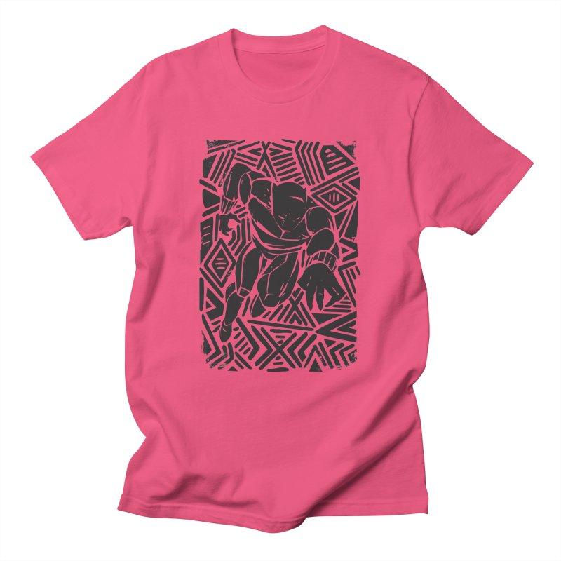 Tribal Panther Men's Regular T-Shirt by Daniel Stevens's Artist Shop