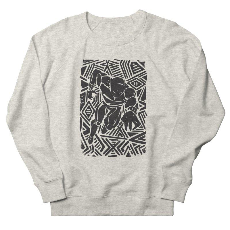 Tribal Panther Men's French Terry Sweatshirt by Daniel Stevens's Artist Shop
