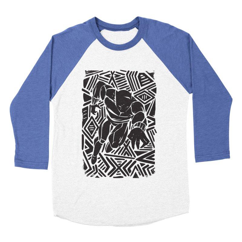 Tribal Panther Women's Baseball Triblend Longsleeve T-Shirt by Daniel Stevens's Artist Shop