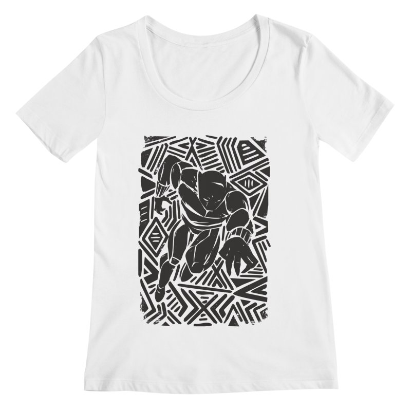 Tribal Panther Women's Regular Scoop Neck by Daniel Stevens's Artist Shop