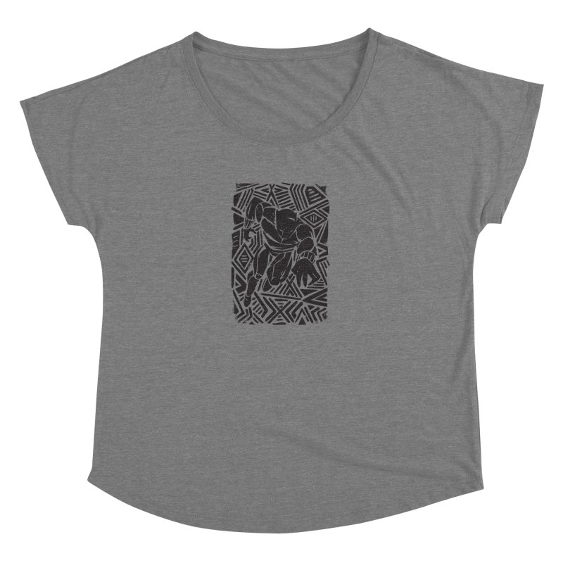 Tribal Panther Women's Scoop Neck by Daniel Stevens's Artist Shop