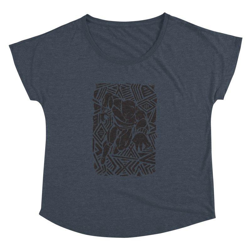 Tribal Panther Women's Dolman Scoop Neck by Daniel Stevens's Artist Shop