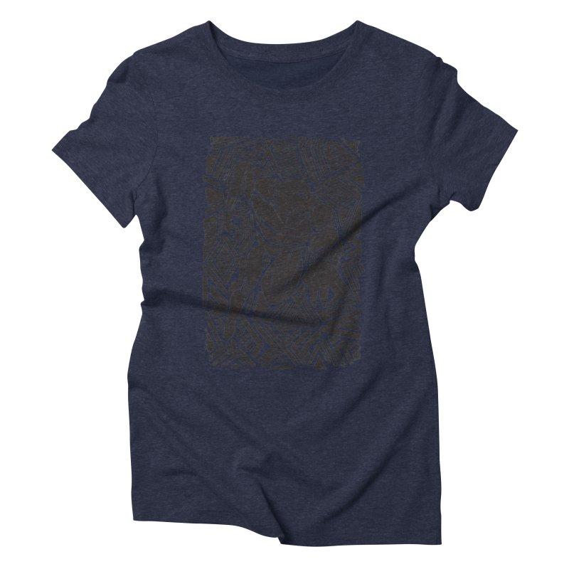 Tribal Panther Women's Triblend T-Shirt by Daniel Stevens's Artist Shop