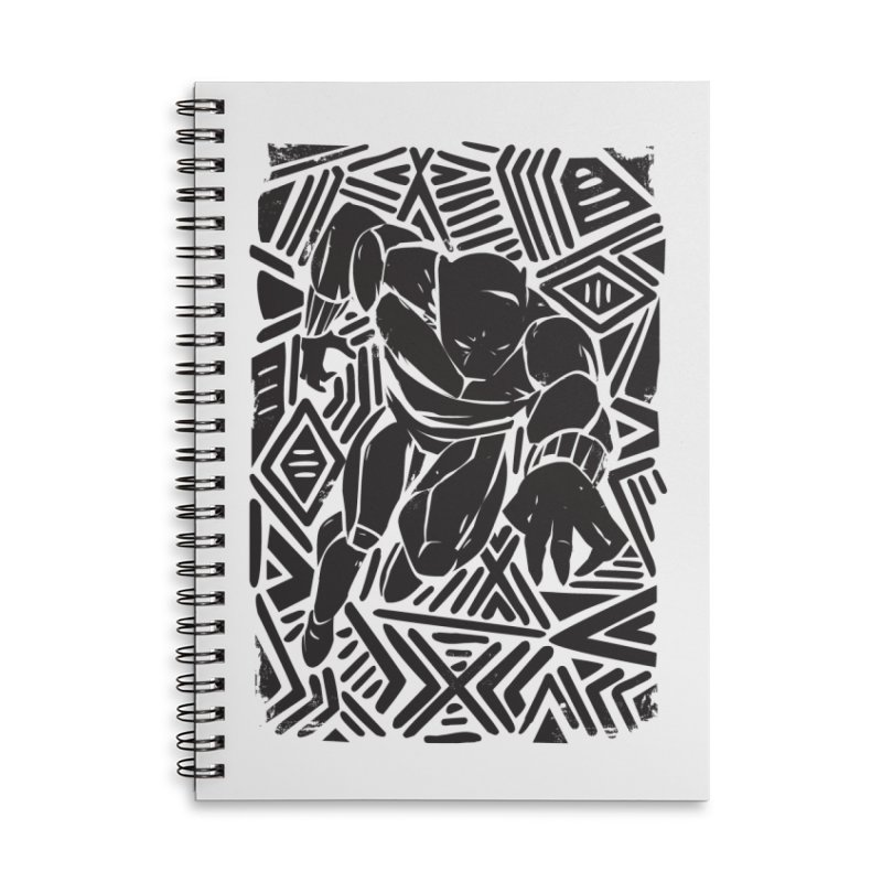 Tribal Panther Accessories Lined Spiral Notebook by Daniel Stevens's Artist Shop