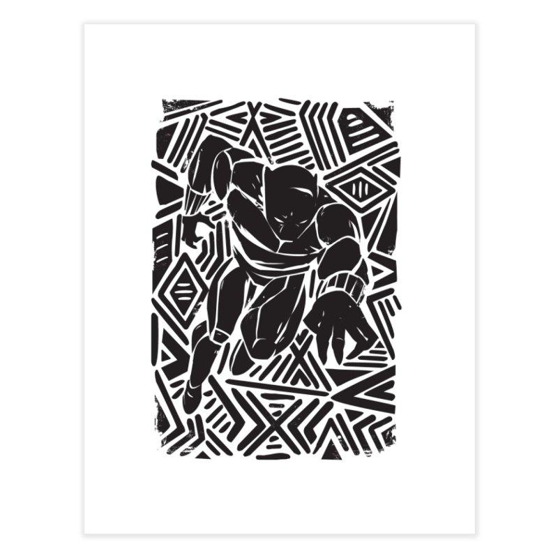 Tribal Panther Home Fine Art Print by Daniel Stevens's Artist Shop