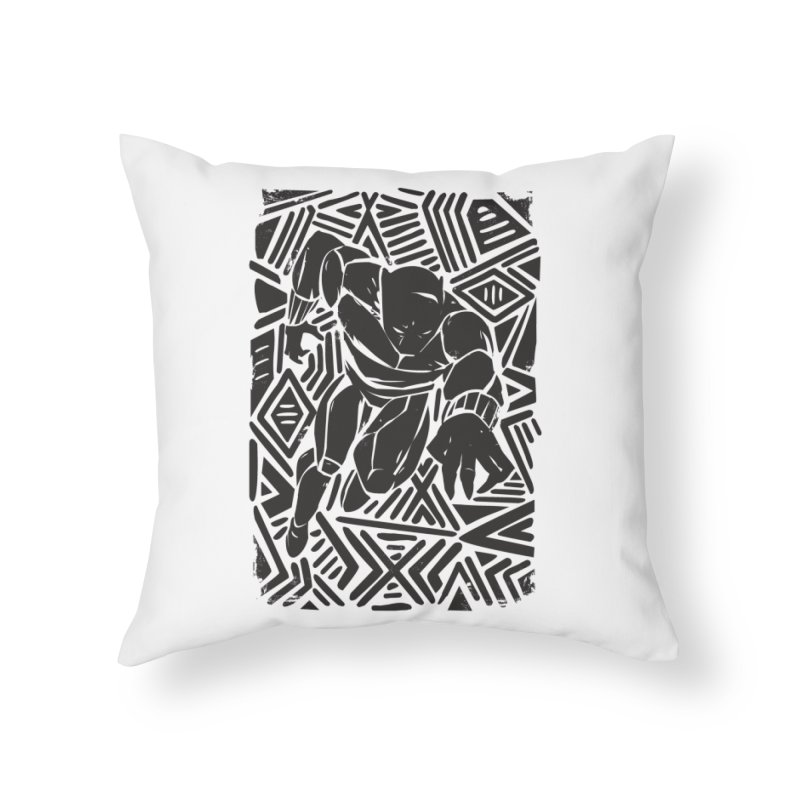 Tribal Panther Home Throw Pillow by Daniel Stevens's Artist Shop