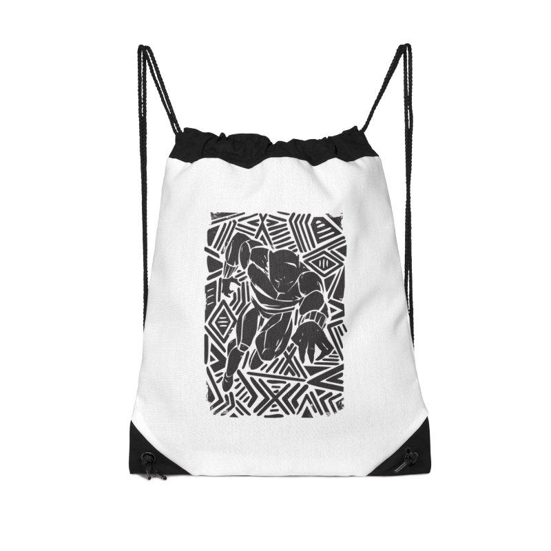 Tribal Panther Accessories Drawstring Bag Bag by Daniel Stevens's Artist Shop