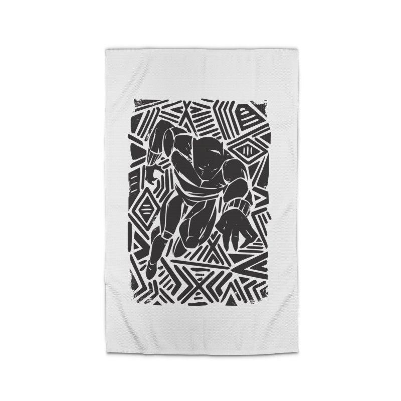 Tribal Panther Home Rug by Daniel Stevens's Artist Shop
