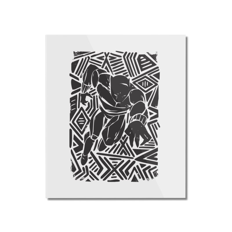 Tribal Panther Home Mounted Acrylic Print by Daniel Stevens's Artist Shop