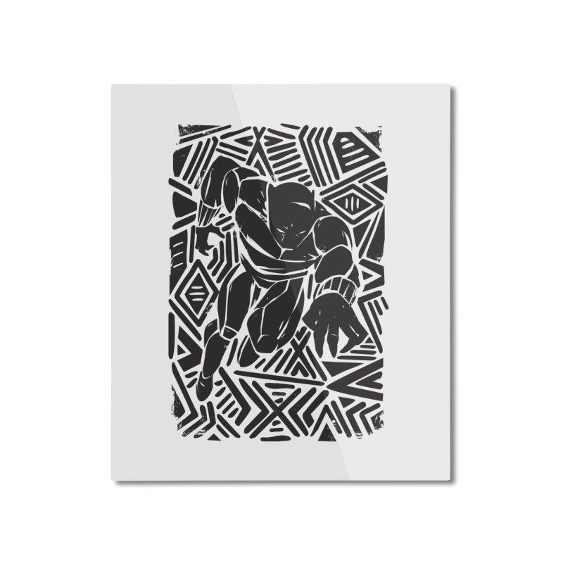 Tribal Panther Home Mounted Aluminum Print by Daniel Stevens's Artist Shop
