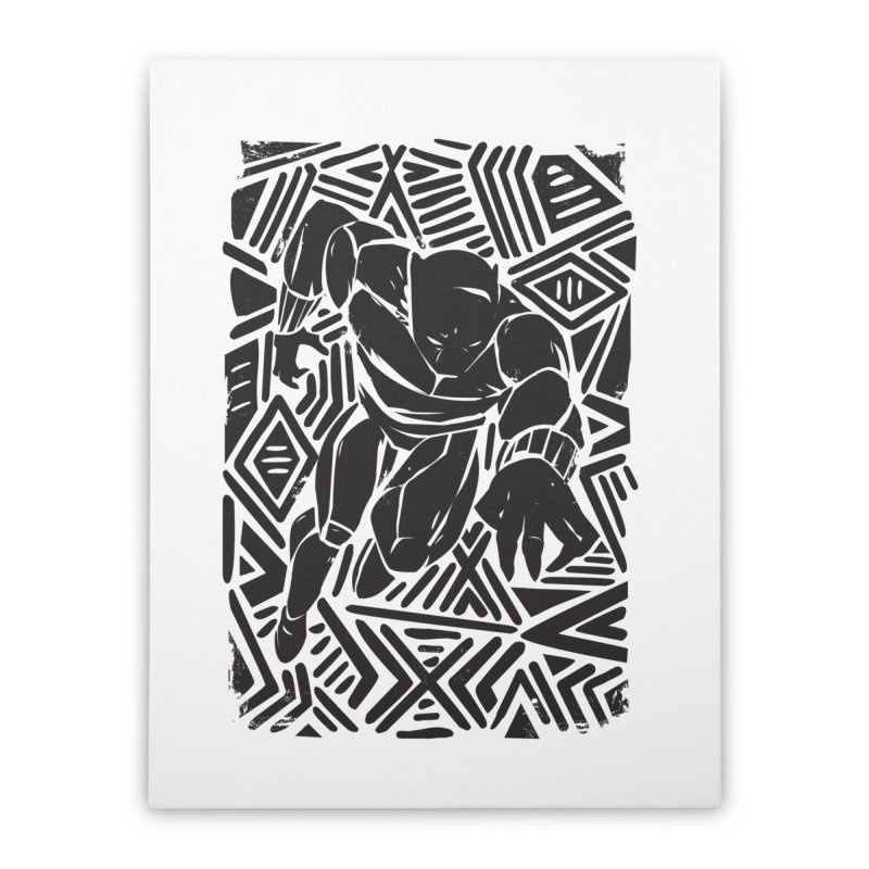 Tribal Panther Home Stretched Canvas by Daniel Stevens's Artist Shop