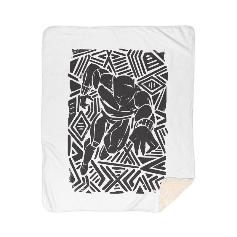 Tribal Panther Home Sherpa Blanket Blanket by Daniel Stevens's Artist Shop