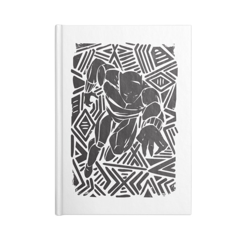Tribal Panther Accessories Lined Journal Notebook by Daniel Stevens's Artist Shop