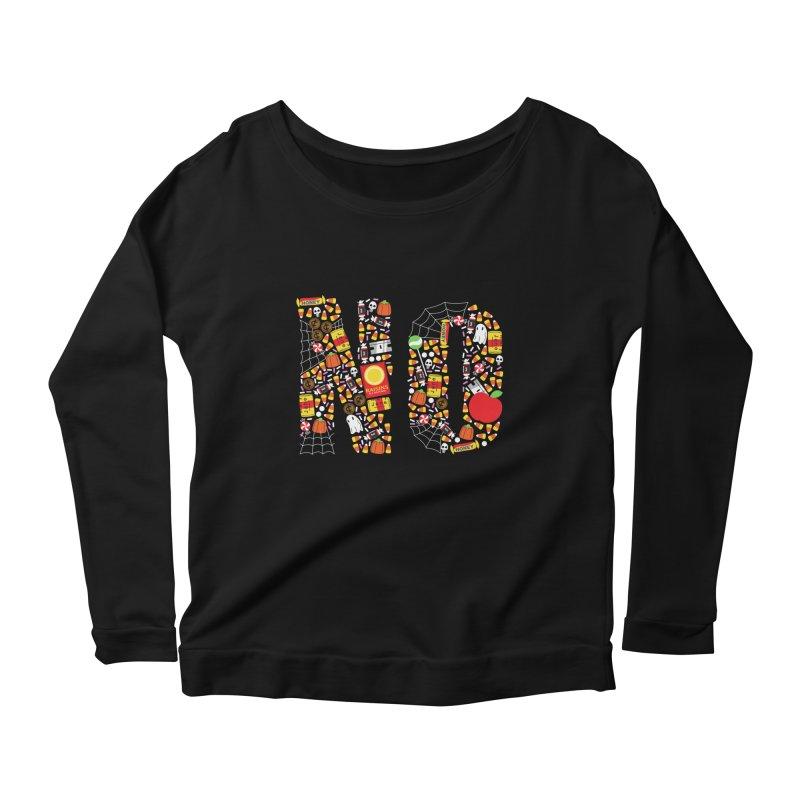 Unwanted Treats Women's Scoop Neck Longsleeve T-Shirt by Daniel Stevens's Artist Shop