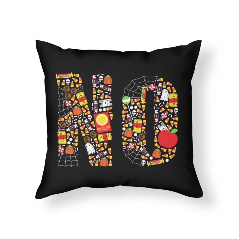 Unwanted Treats Home Throw Pillow by Daniel Stevens's Artist Shop